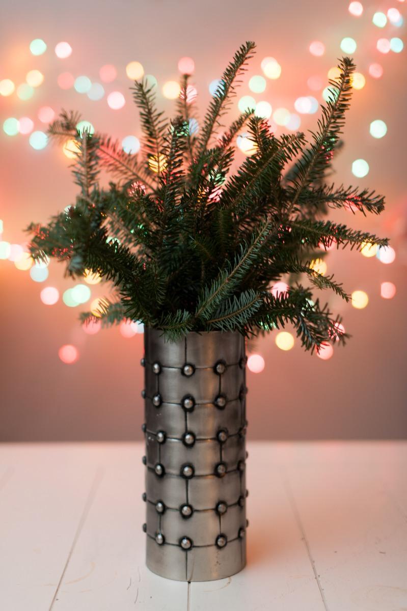 vase, homedeco, metal art, greenery, Christmas, Holiday decor, Home decor,